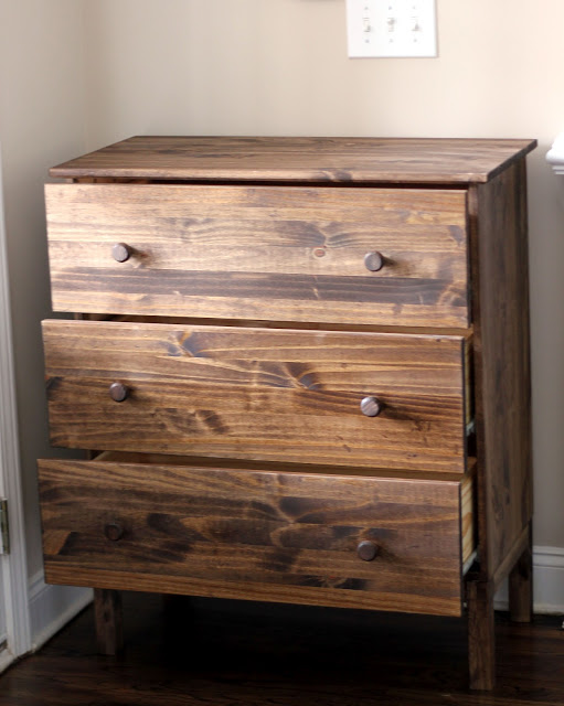 Picture of: Walnut Dresser with Fruit Pulls