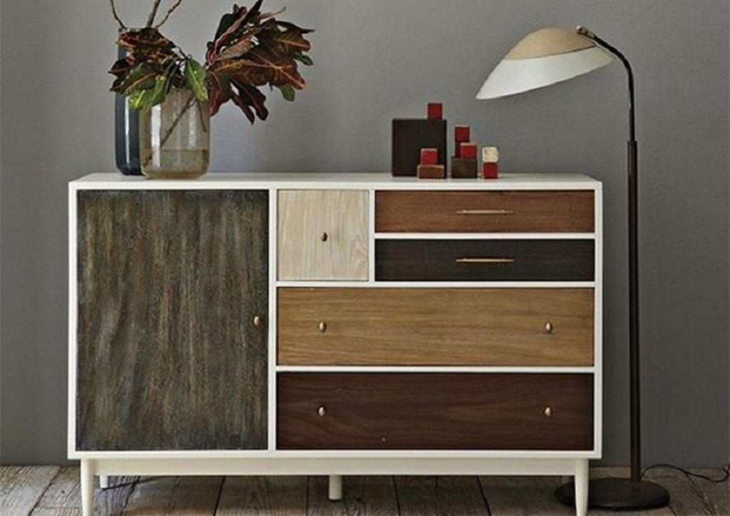 Image of: West Elm Patchwork Nightstand