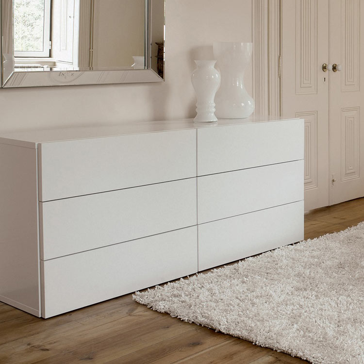 White 6 Drawer Dresser for Nursery