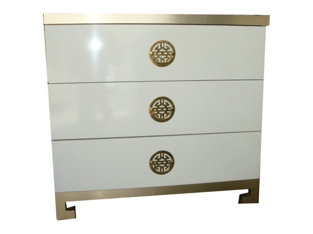 White And Gold Chest