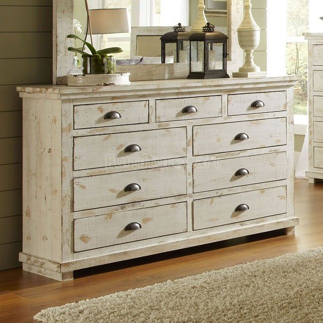 Picture of: White Antique Drawer Dresser