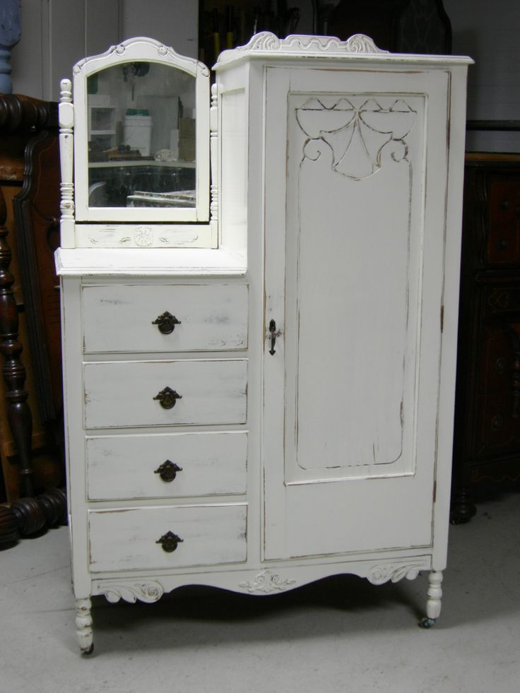 Picture of: White Antique Looking Dresser