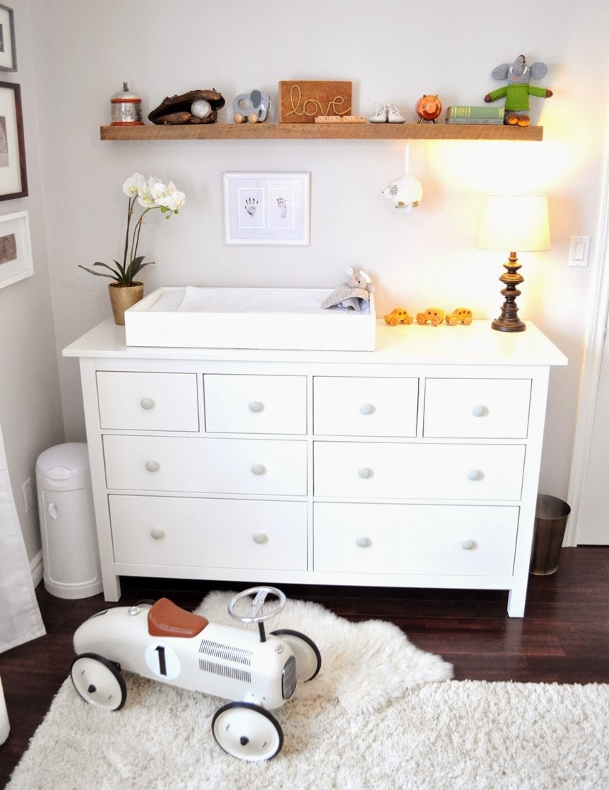 White Changing Table Tray