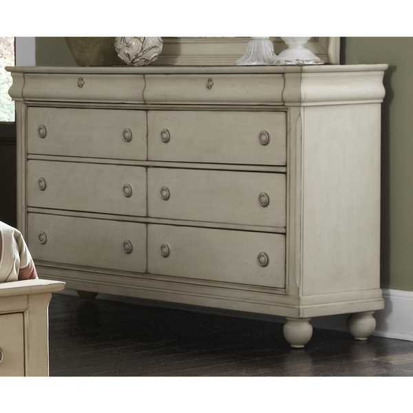 White Drawer Rustic Dresser