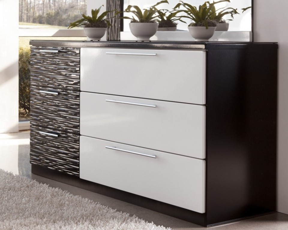 Image of: Modern White Lacquer Dresser IKEA