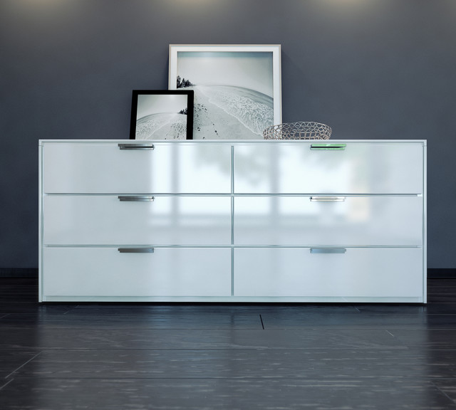 White Modern Drawer Dresser