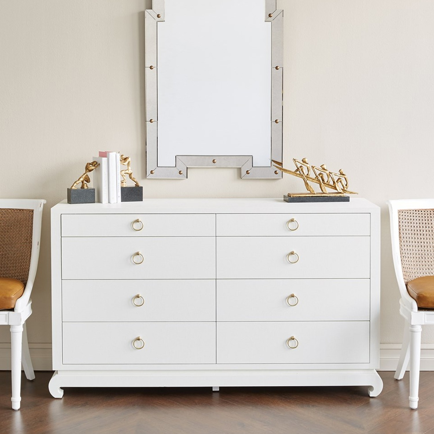 Picture of: White Tall Dresser Vanity