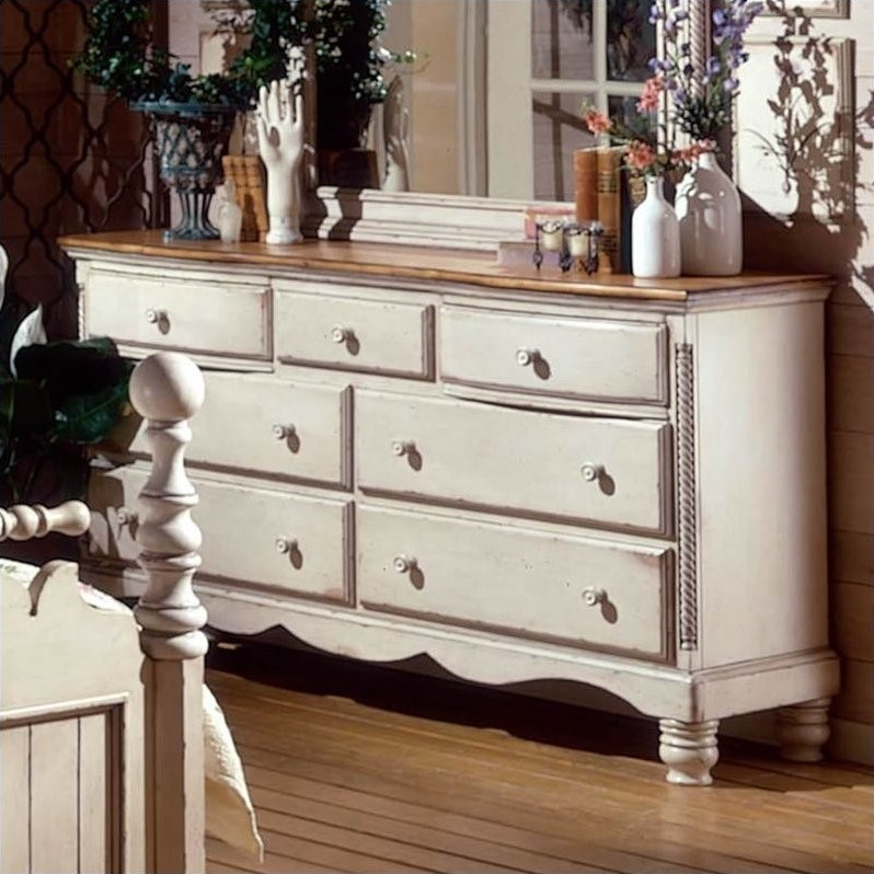 Picture of: White Vintage Looking Dresser