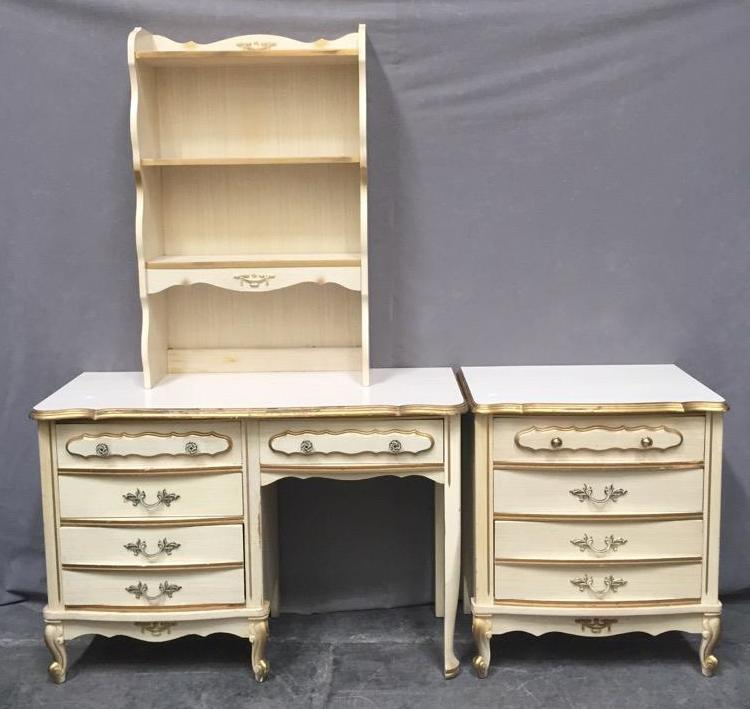 Picture of: White and Gold Painted Furniture