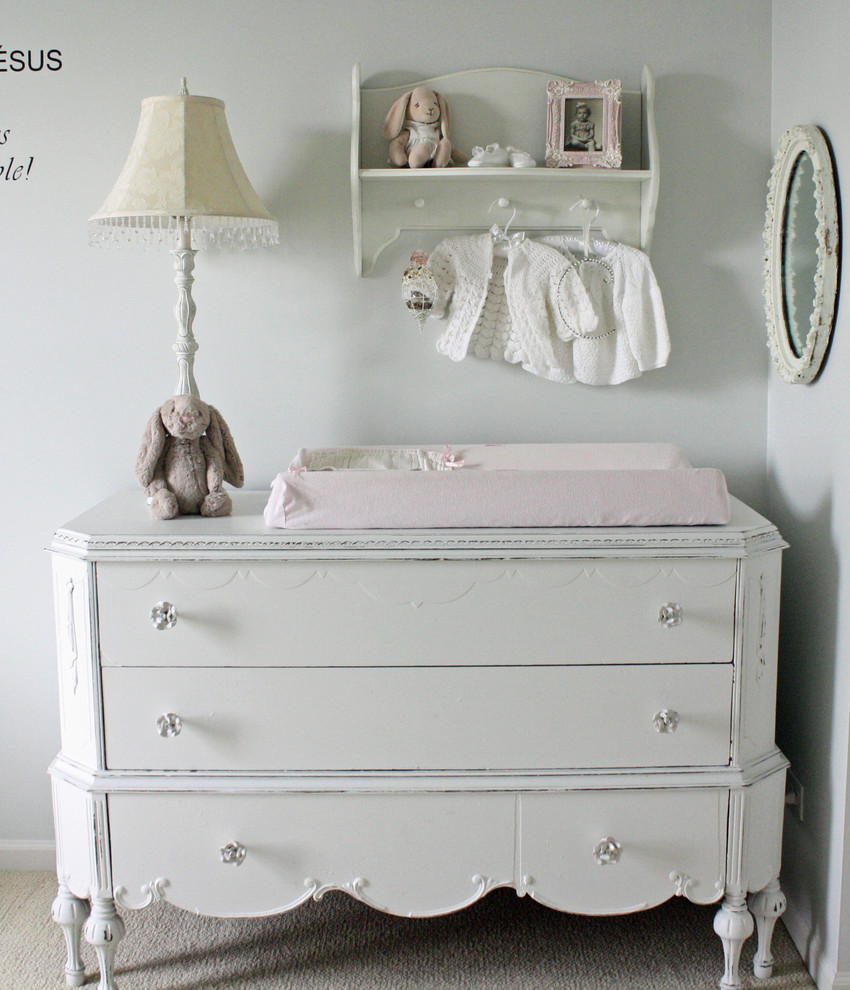 Picture of: White and Gray Baby Dresser