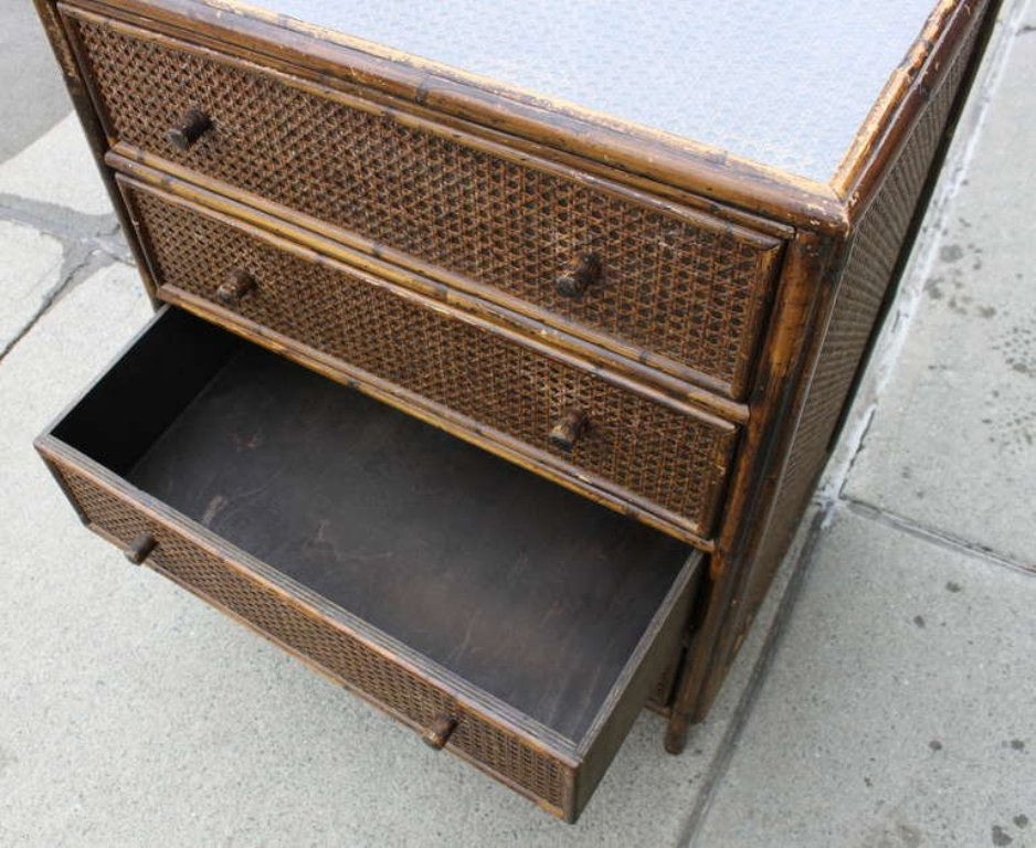 Wicker Chest With Drawers