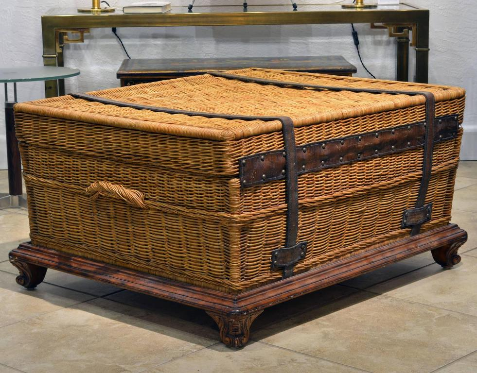 Picture of: Wicker Trunk Coffee Table