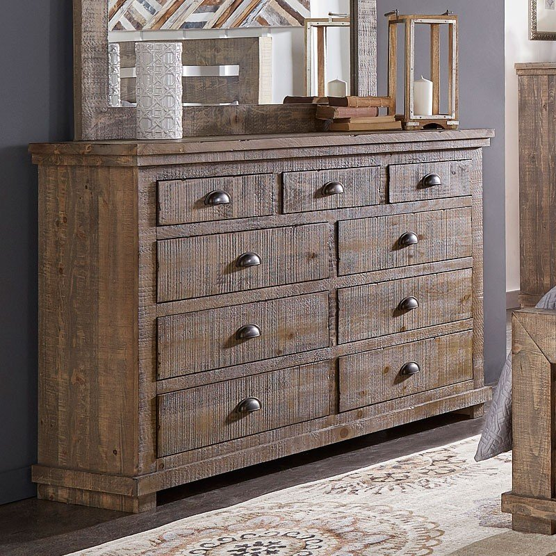 Willow Cheap Grey Dresser