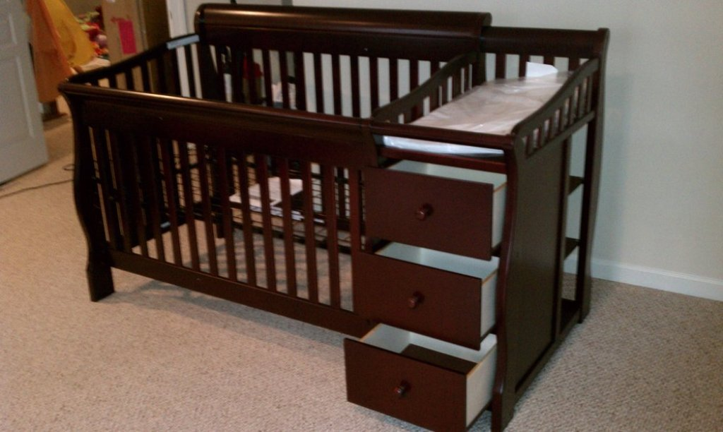 Picture of: Wood Changing Table Dresser Baby