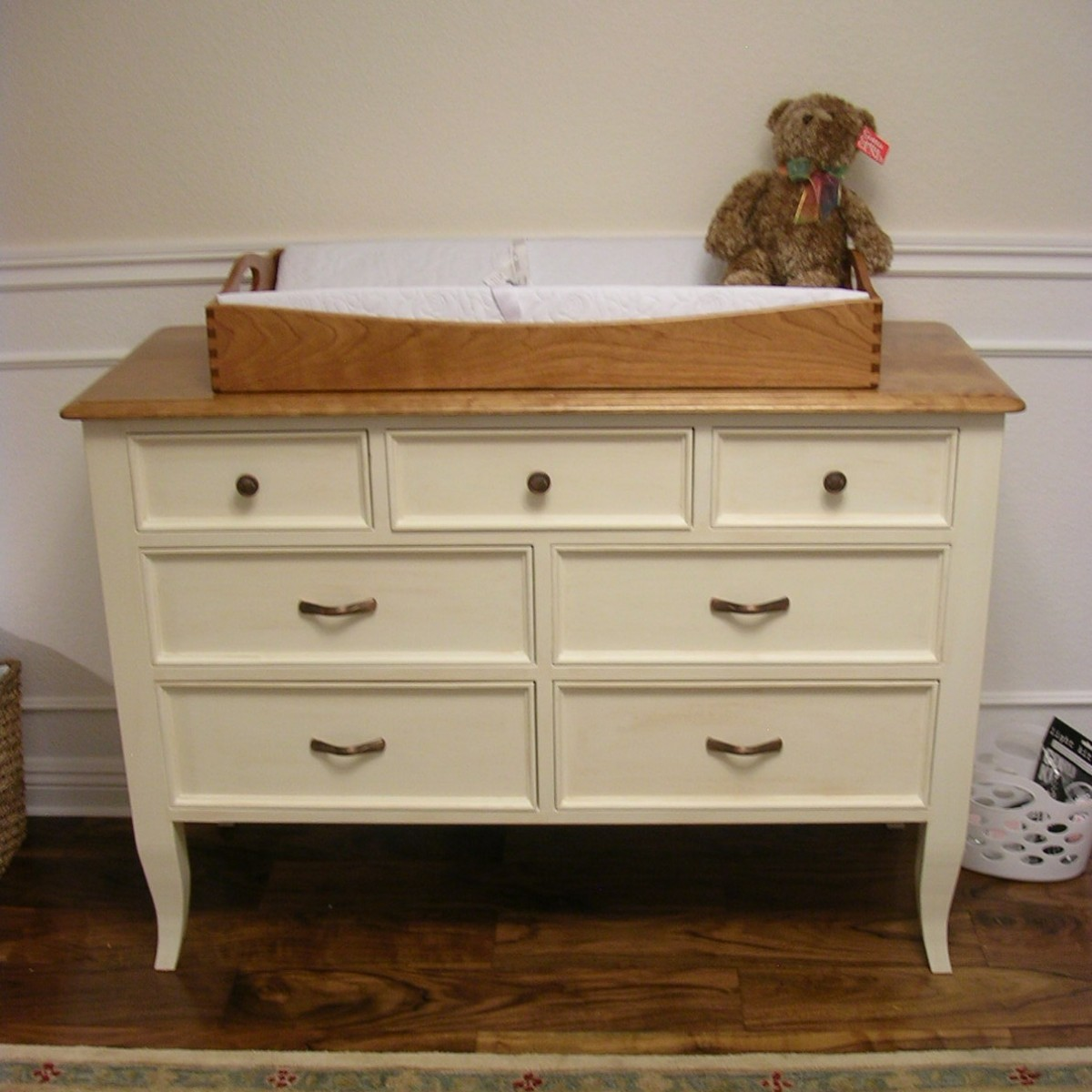Image of: Wood Changing Table Dresser