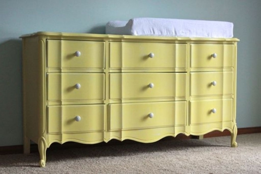 Picture of: Yellow Changing Table Baby