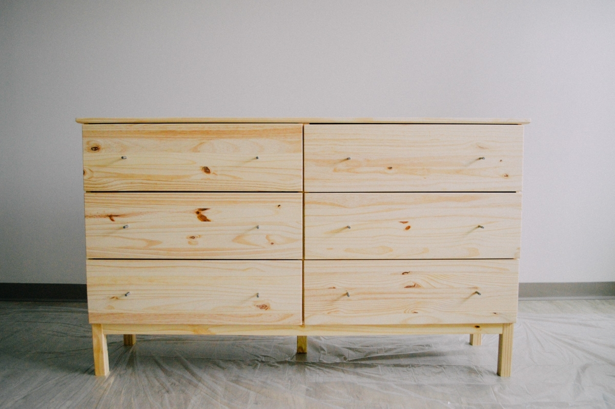 Image of: Calm Unfinished Pine Dresser Ikea