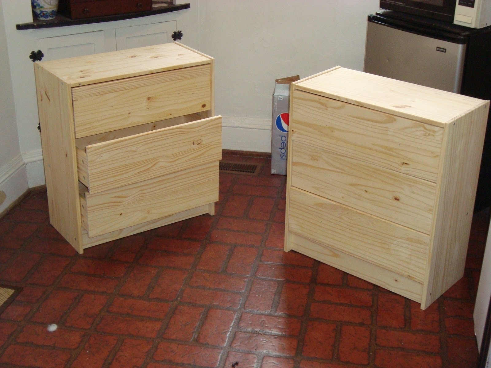 Image of: Elegant Unfinished Wooden Dresser