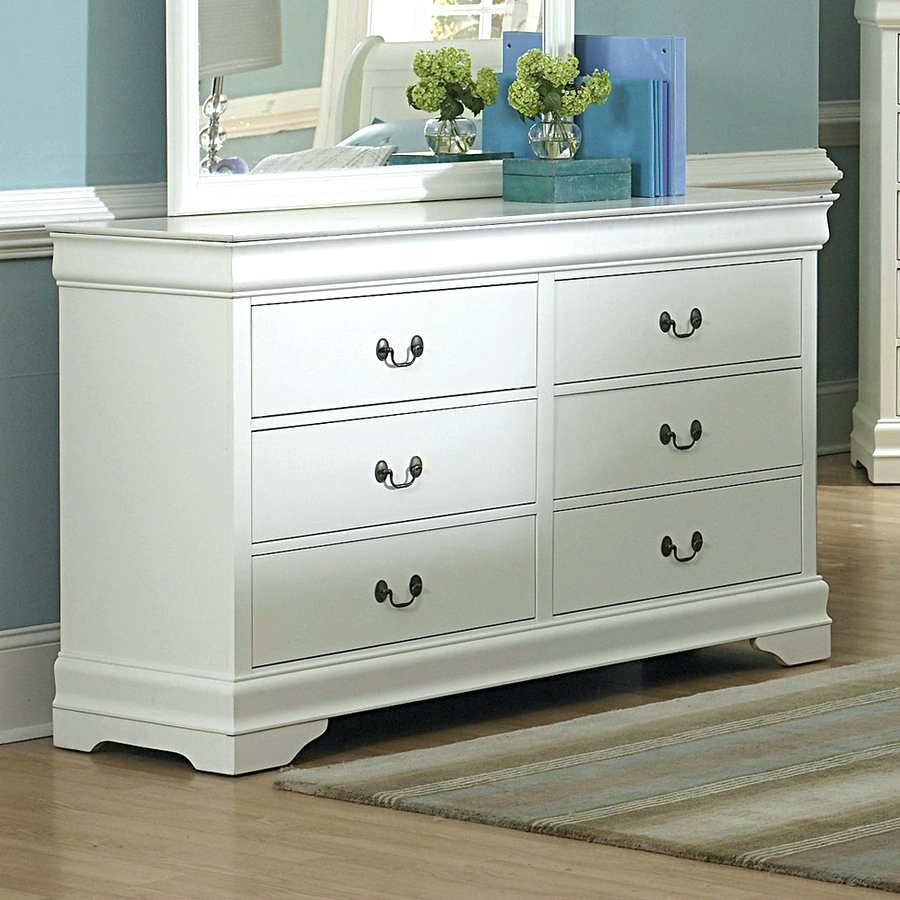 Picture of: White Lowboy Dresser