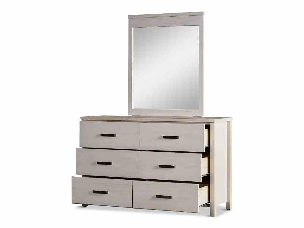 Picture of: Six Drawer Dresser With Mirror