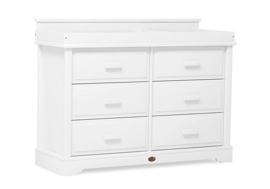 Picture of: Six Drawer White Dresser
