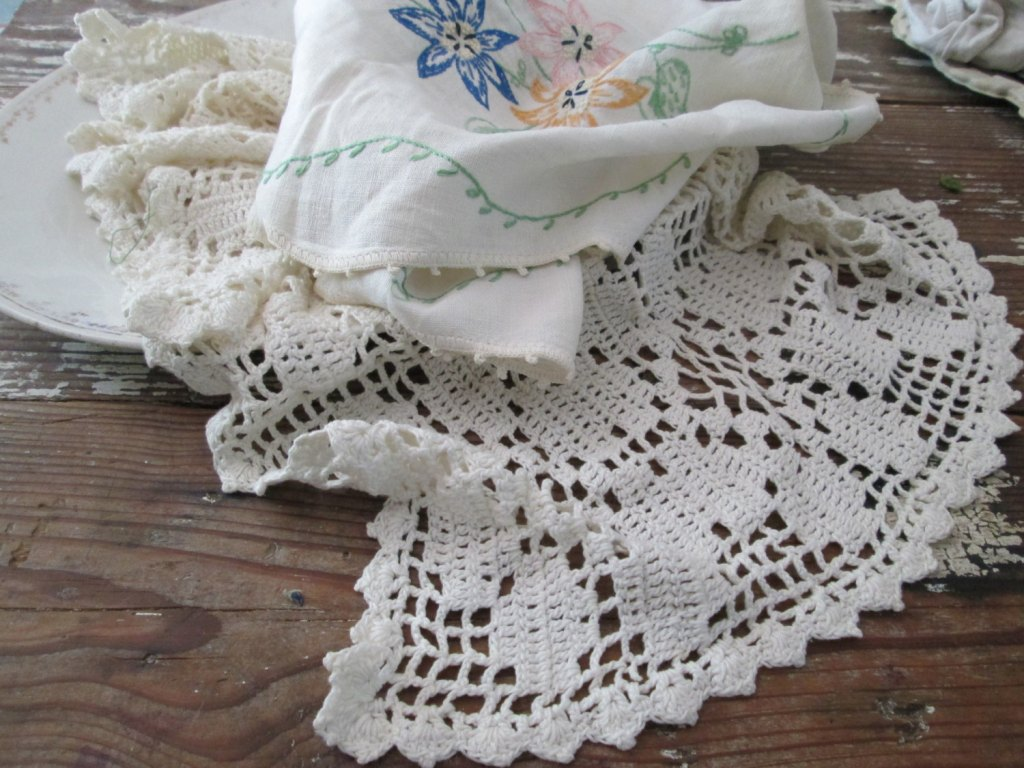 Picture of: White Dresser Scarves And Doilies