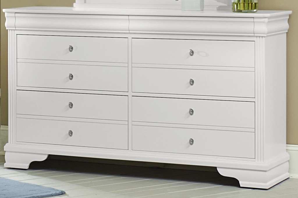 Picture of: White Six Drawer Dresser