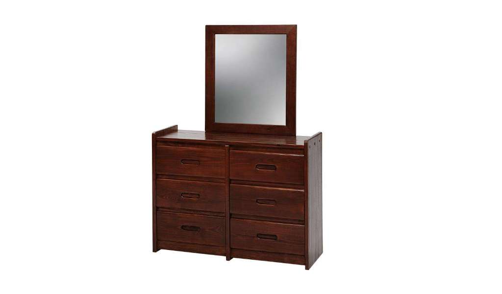 Picture of: 6 Drawer Dresser With Mirror