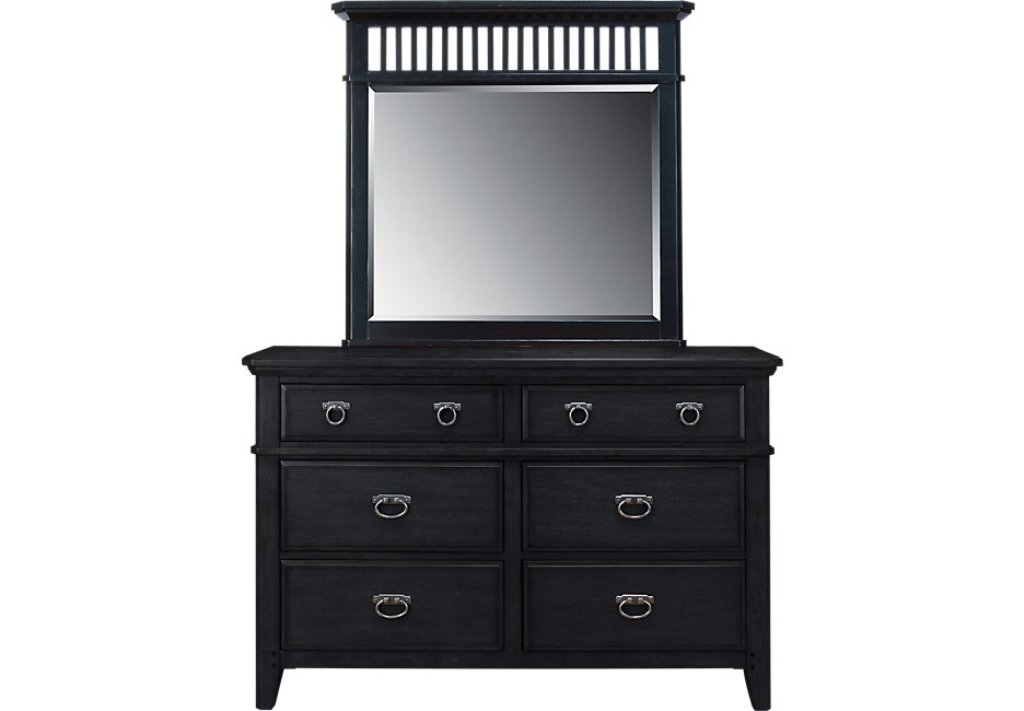 Picture of: Black Dresser And Mirror