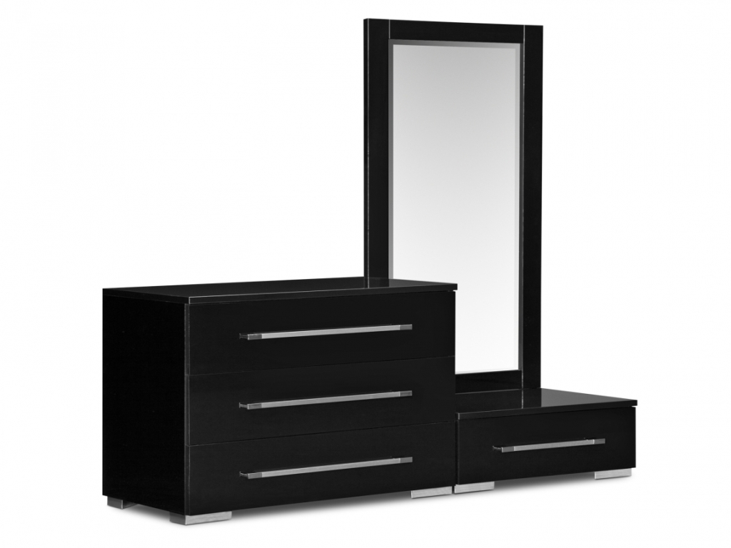 Picture of: Black Dresser With Mirror Ikea