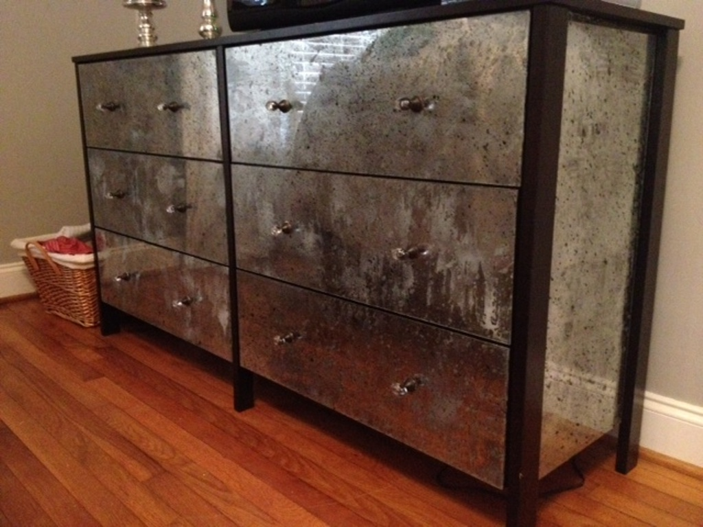 Diy Faux Mirrored Furniture