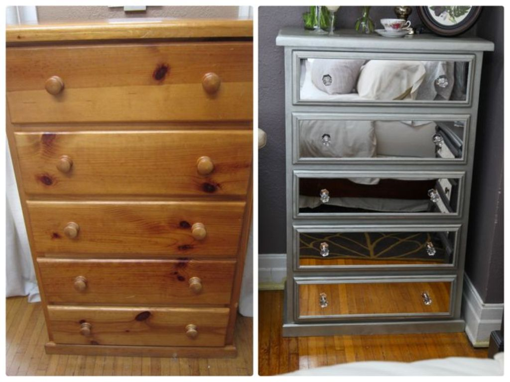 Image of: Diy Mirrored Chest