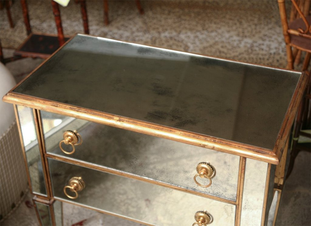 Picture of: Gold Mirrored Chest