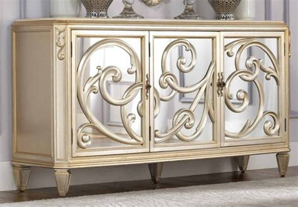 Picture of: Gold Mirrored Furniture