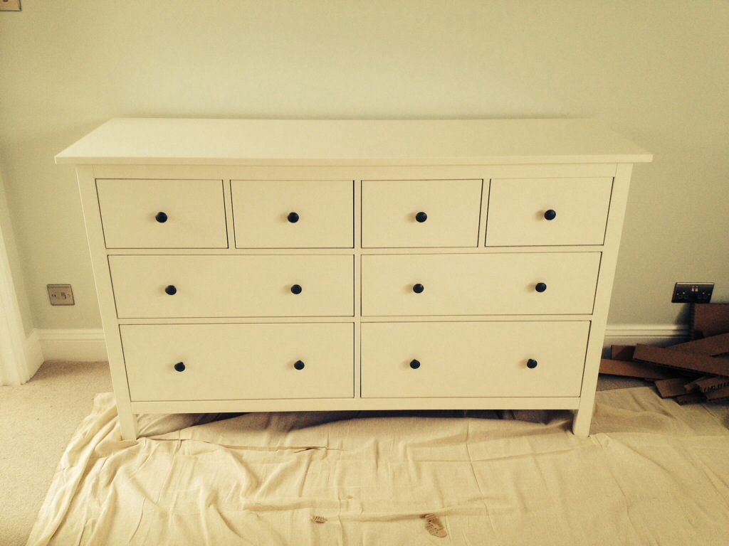 Image of: Ikea Hemnes 8 Drawer Dresser Assembly Instructions