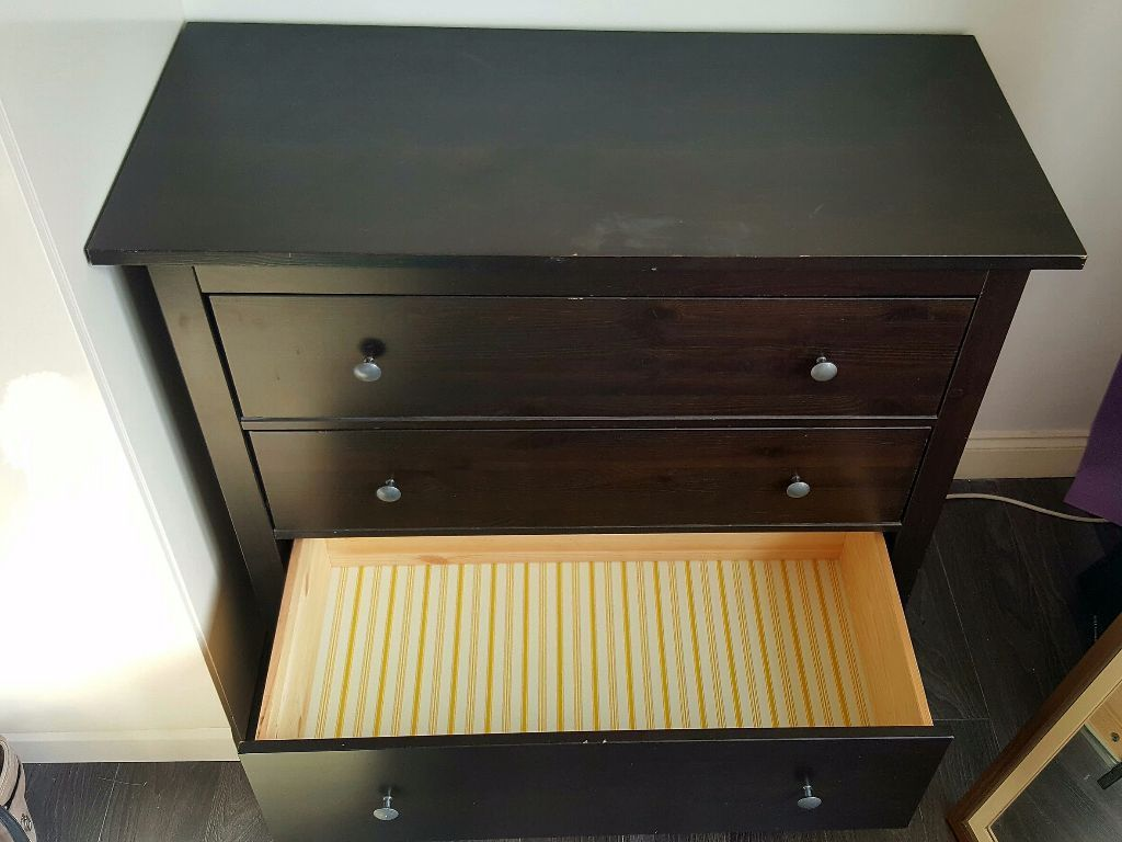 Image of: Ikea Hemnes Dresser 3 Drawer