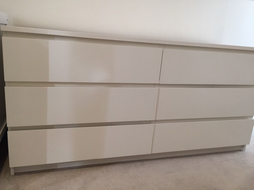Image of: Ikea Hemnes Dresser 6 Drawer White