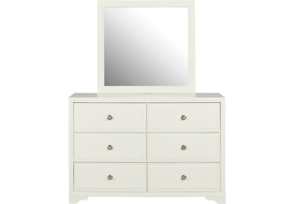 Picture of: Small White Dresser With Mirror