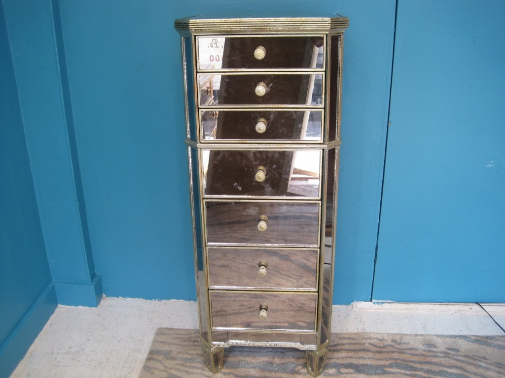 Picture of: Tall Mirrored Chest