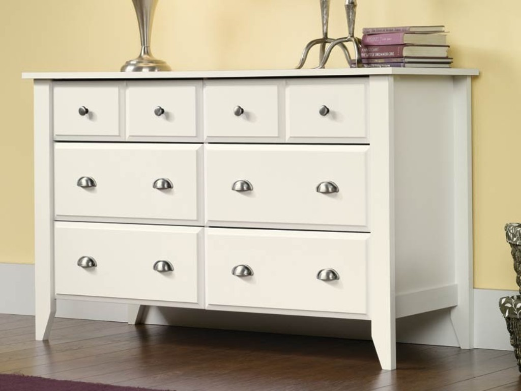 Picture of: White Bedroom Dresser With Mirror