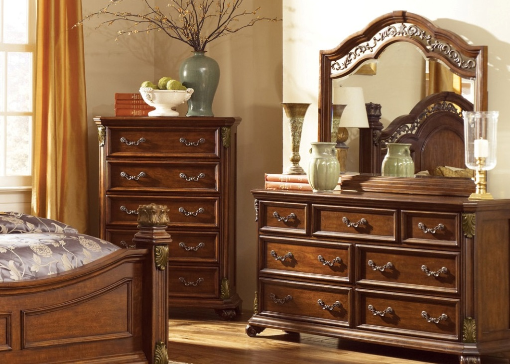 Picture of: Awesome Wood Dresser With Mirror