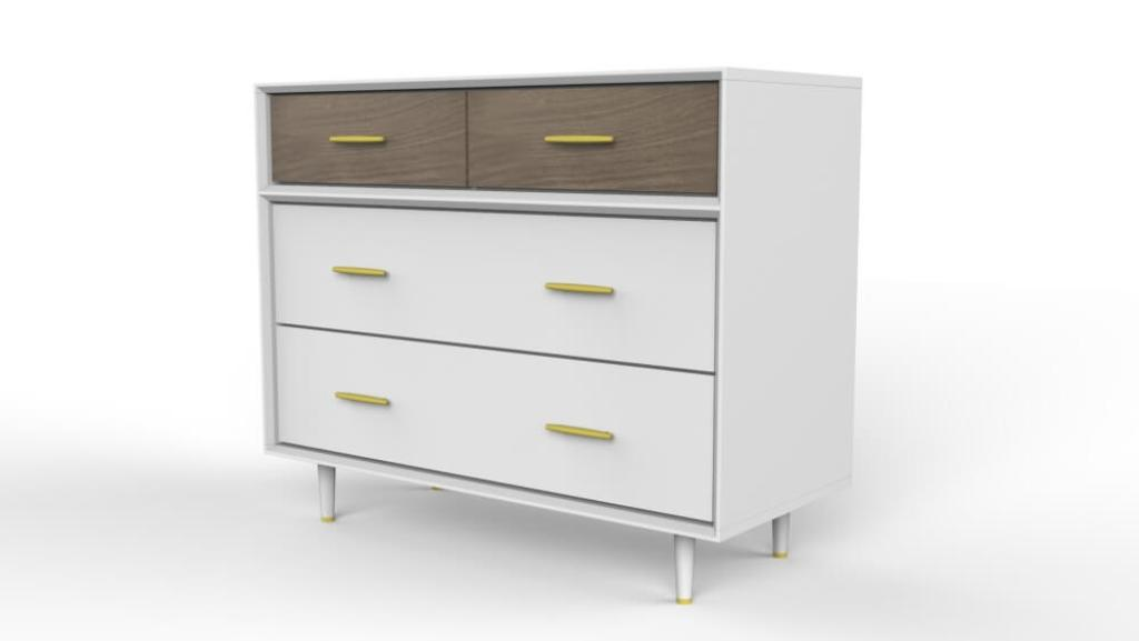 Picture of: 4 Drawer Dresser White Design Ideas