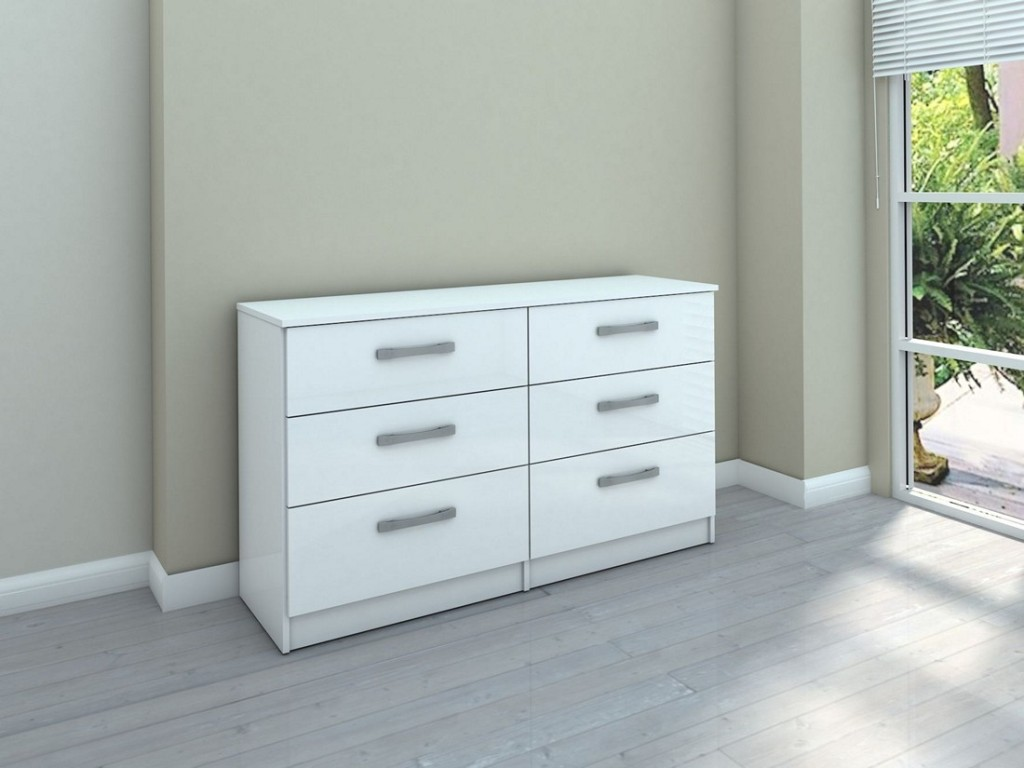 Picture of: Modern 6 Drawer Chest White