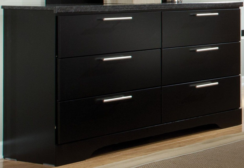 Image of: 6 Drawer Dresser Black