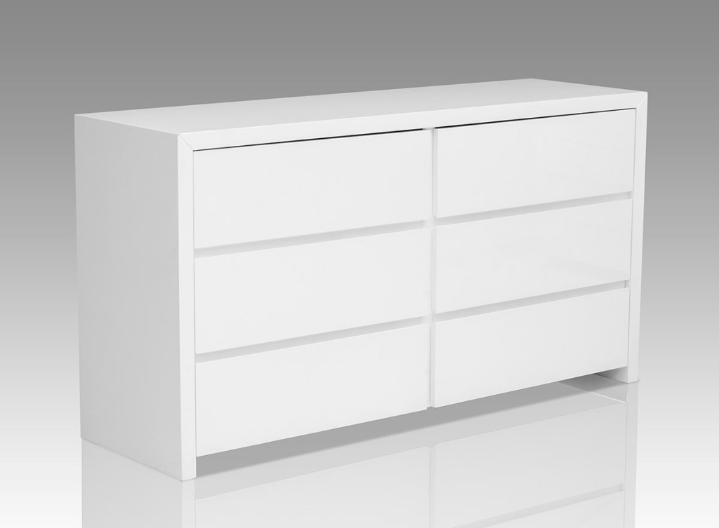 Picture of: 6 Drawer Dresser White