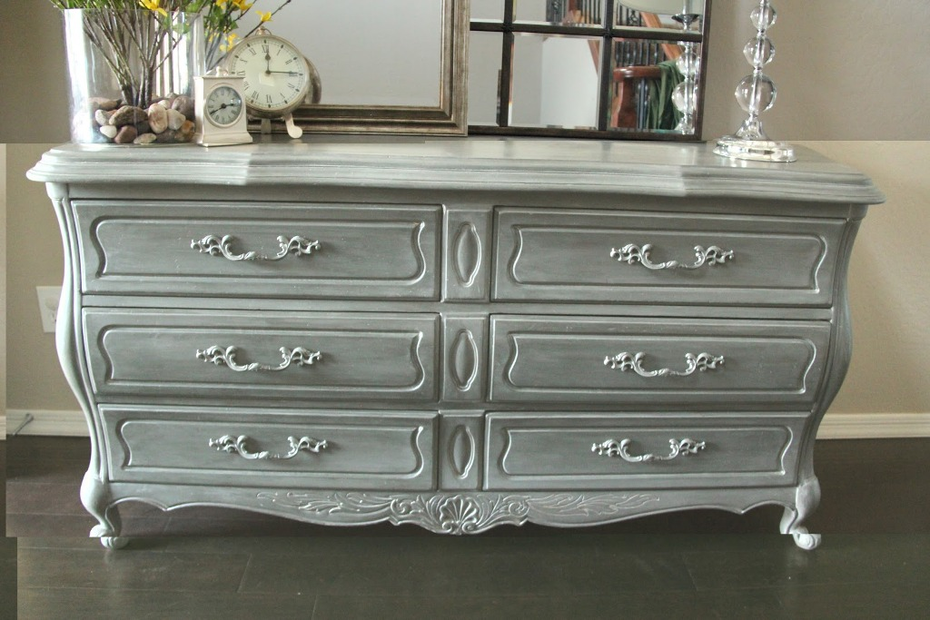 Picture of: 6 Drawer Dresser Grey