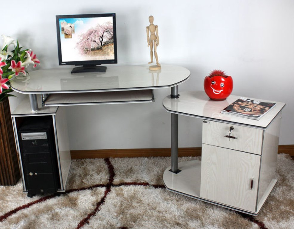 Picture of: Agreeable Computer Desk Dresser Combo