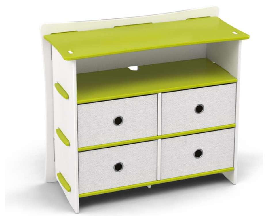 Picture of: Contemporary White Childrens Dresser