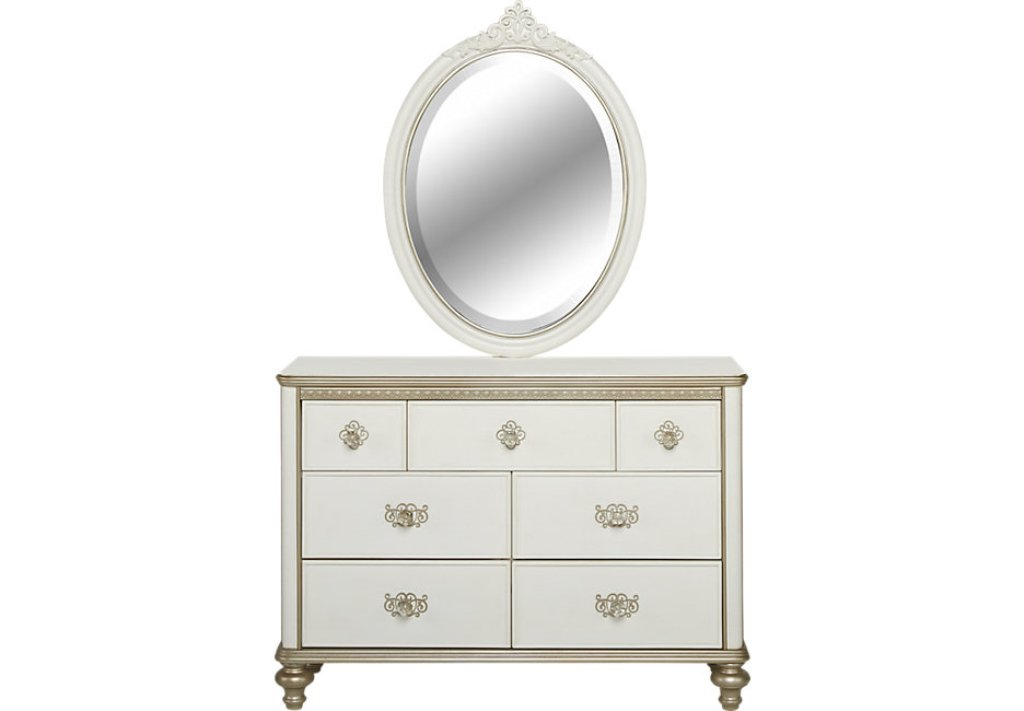 Picture of: White Dresser With Mirror Target