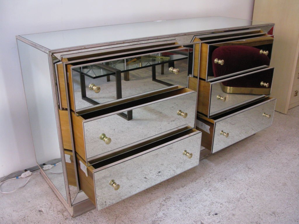Picture of: Glass Mirror Dresser